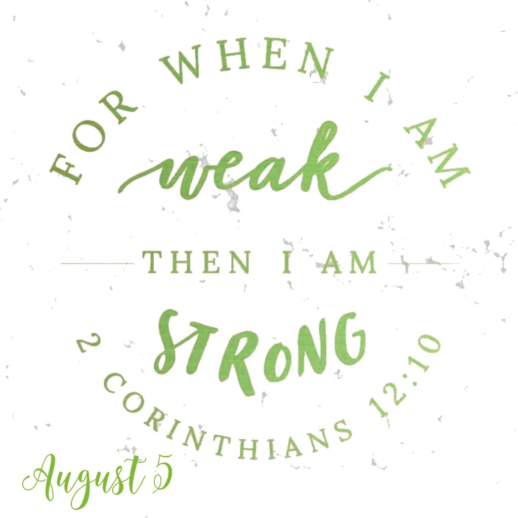 A Vision of Weakness - We find our strength only after reaching our weakest point.