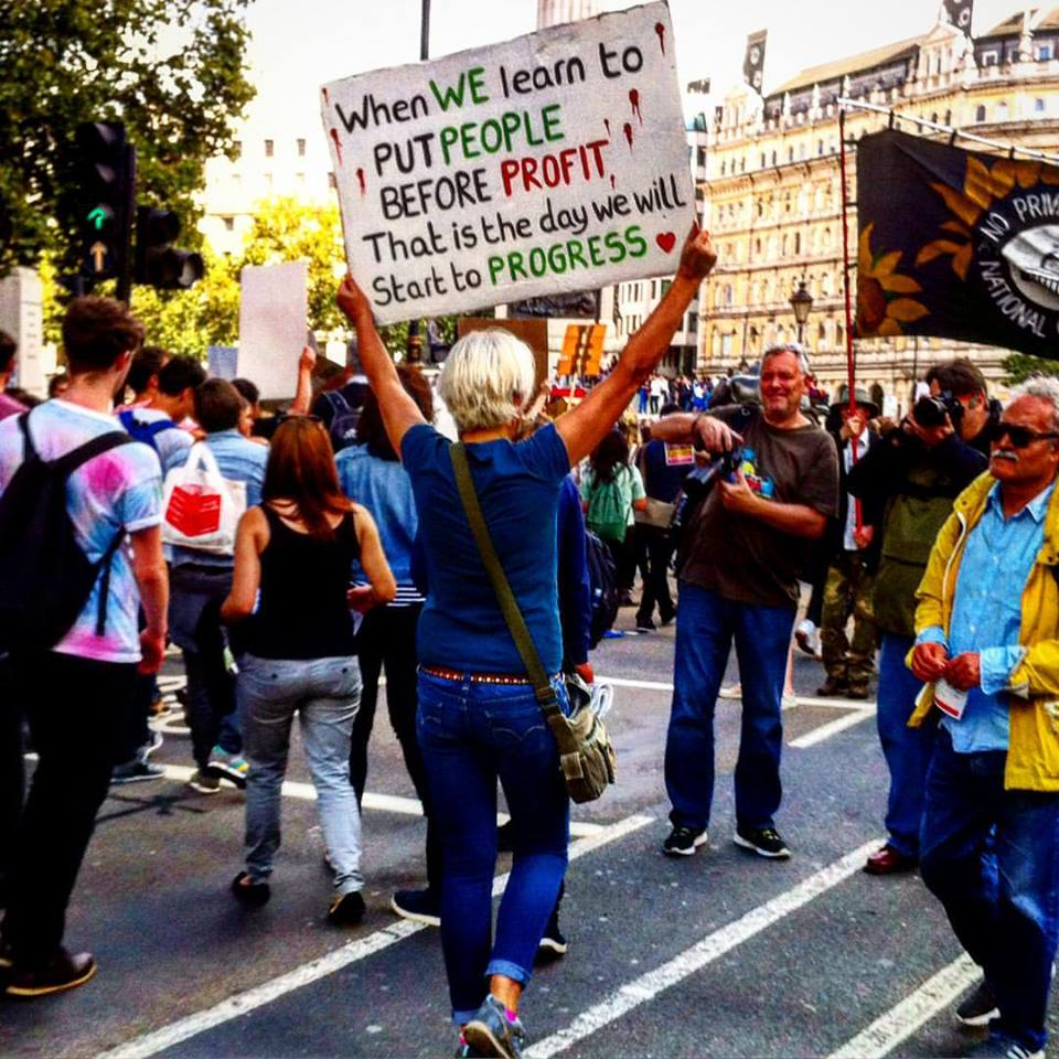 Rally for refugee rights in London, UK. Photo by: S Nagra