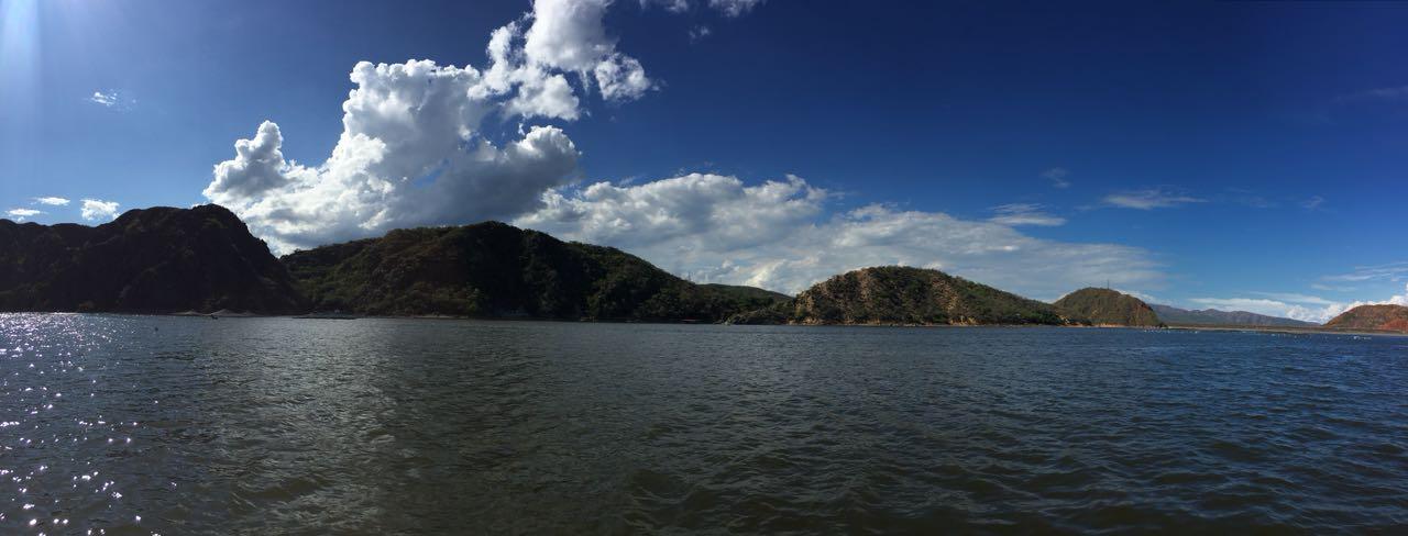 Represa de Betania, Huila, Colombia. Lovely landscape and ace food.