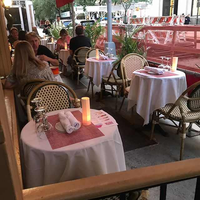 Beautiful night out, perfect for dinning on the patio. #sidewalkcafe #nyceats #jacquesbrasserie