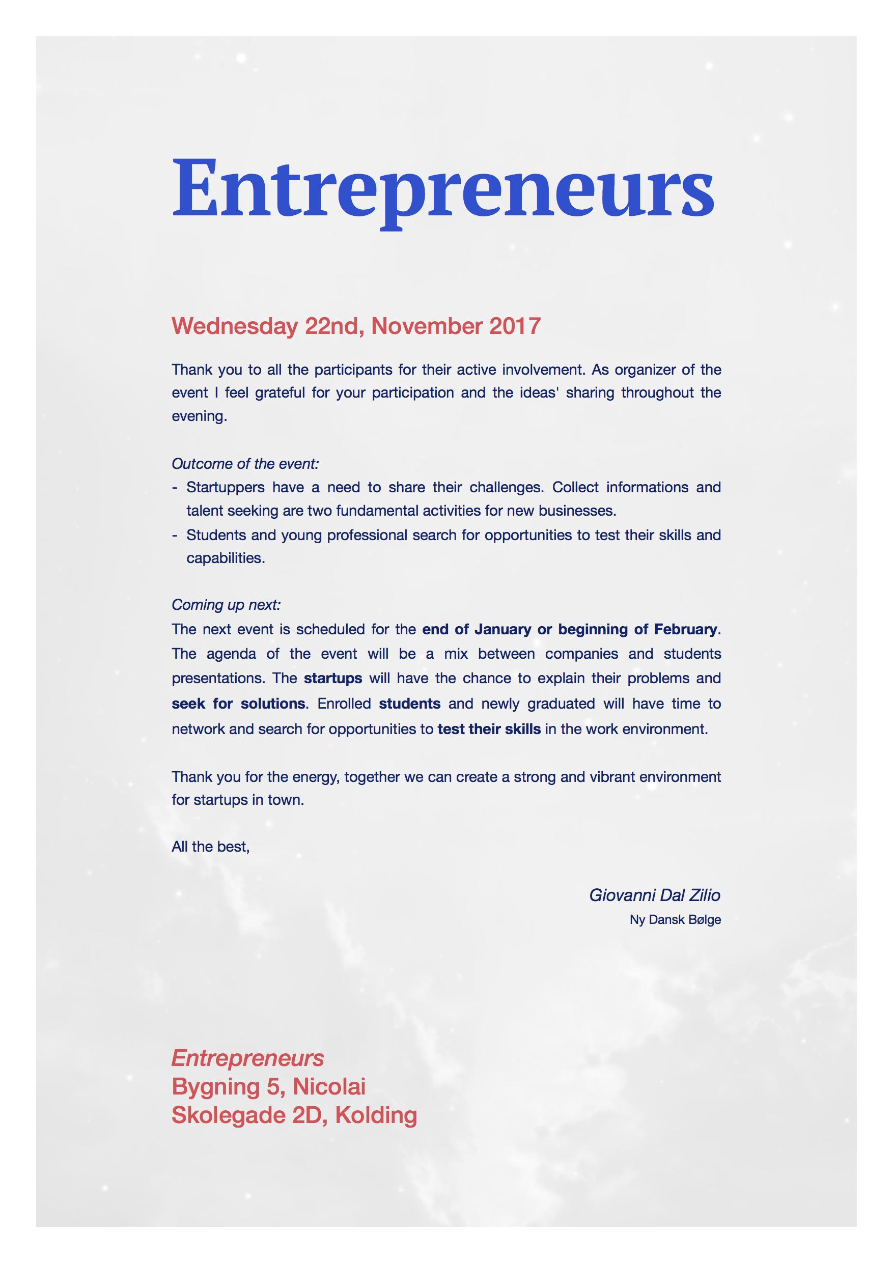 Entrepreneurs Event 1 - Report.jpg