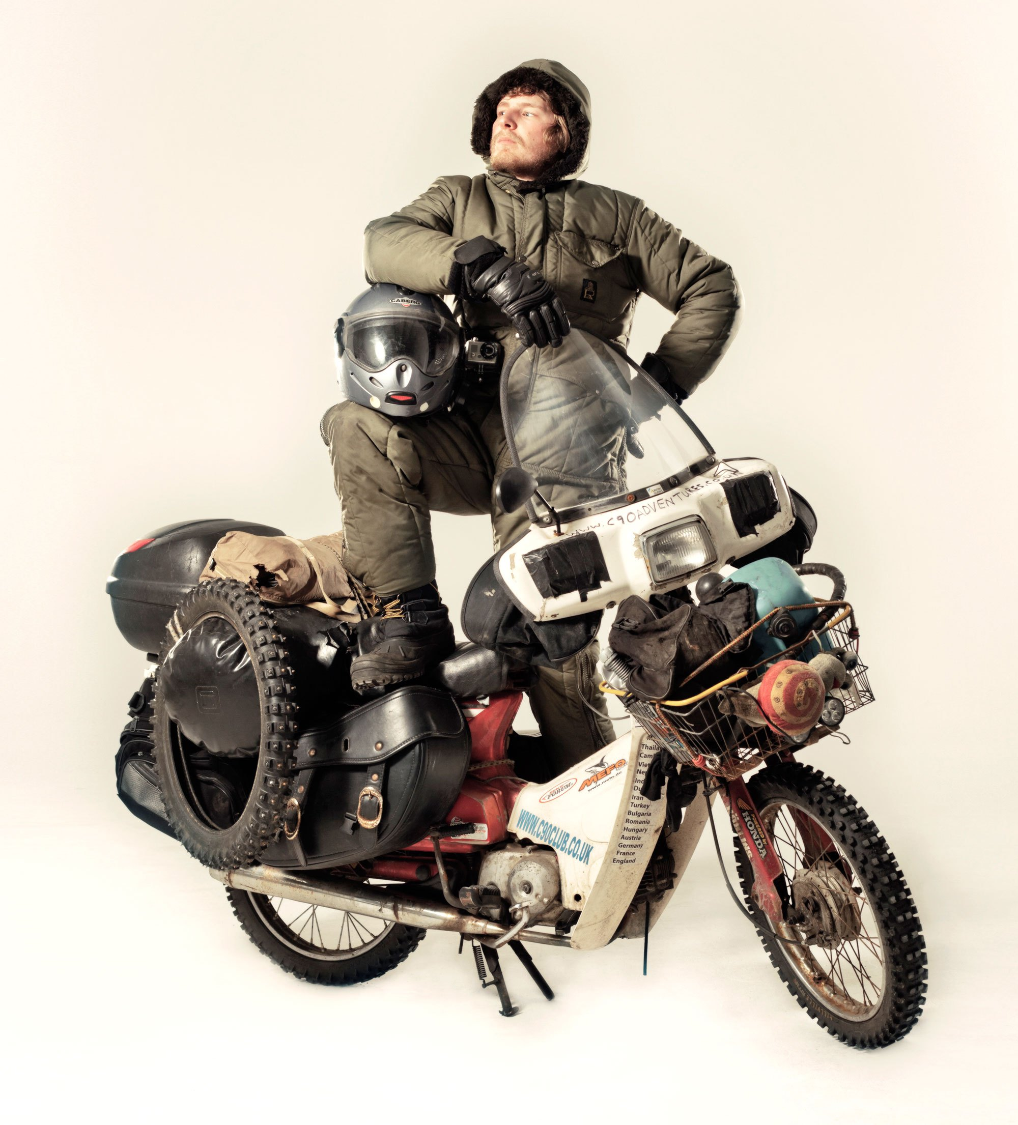 Ed March - The adventurer and traveller, known for touring round the world on a Honda c90, is collaborating in the project.Ed estimates he has ridden 110,000 miles in 36 countries all on a Honda C90 across some of the most remote and inaccessible terrain in the world.Ed brings an unsurpassed level of understanding of all the bikes' potential, features and flaws. Making him the perfect collaborator.