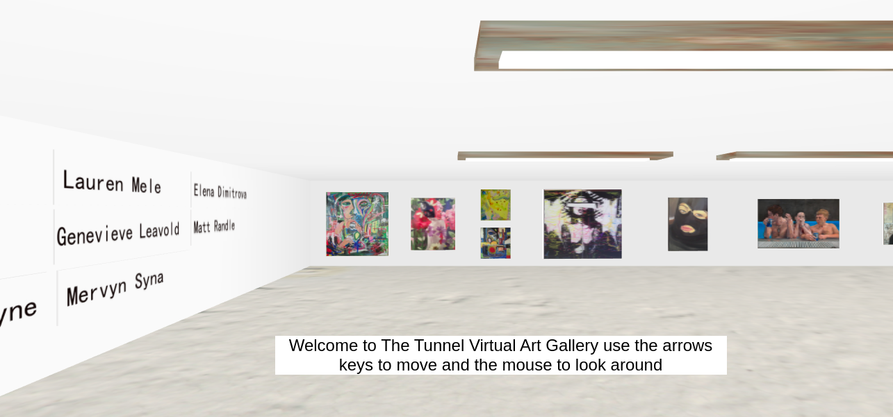 Visit our Virtual Gallery - A virtual Gallery of selected work by the Tunnel Artists