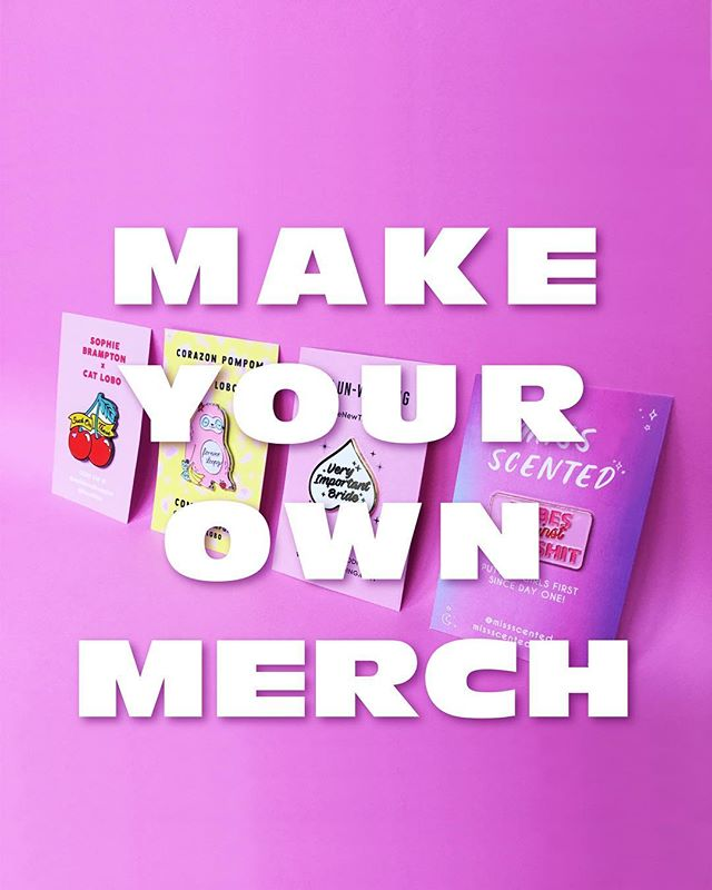 💗 T-shirts, tote bags, pins, key rings, tarot cards, pencils, sticky notes... 🛍 whether you already have a design or you want to design something together: drop me an email if you wanna start selling your own merch 💪🏽 thecatlobo@gmail.com 💘