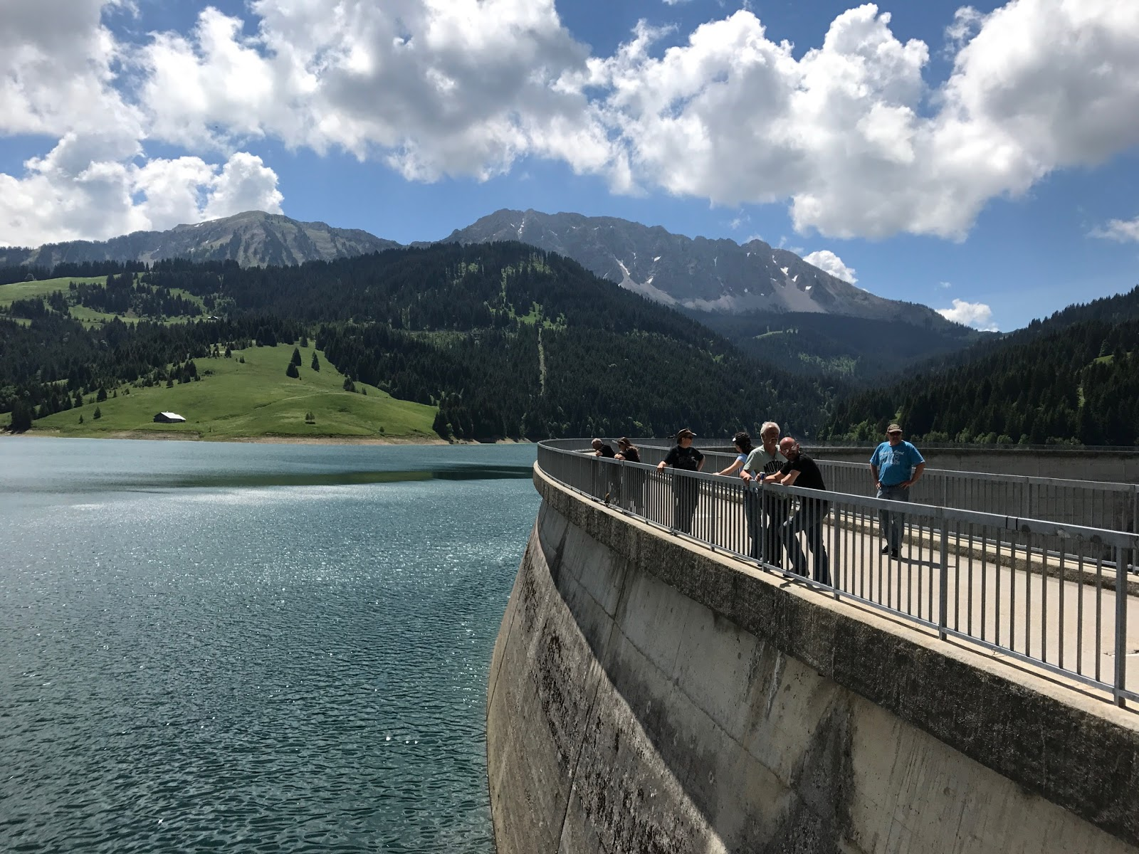 Lac de l'Hongrin marks the end of 18kms of climbing