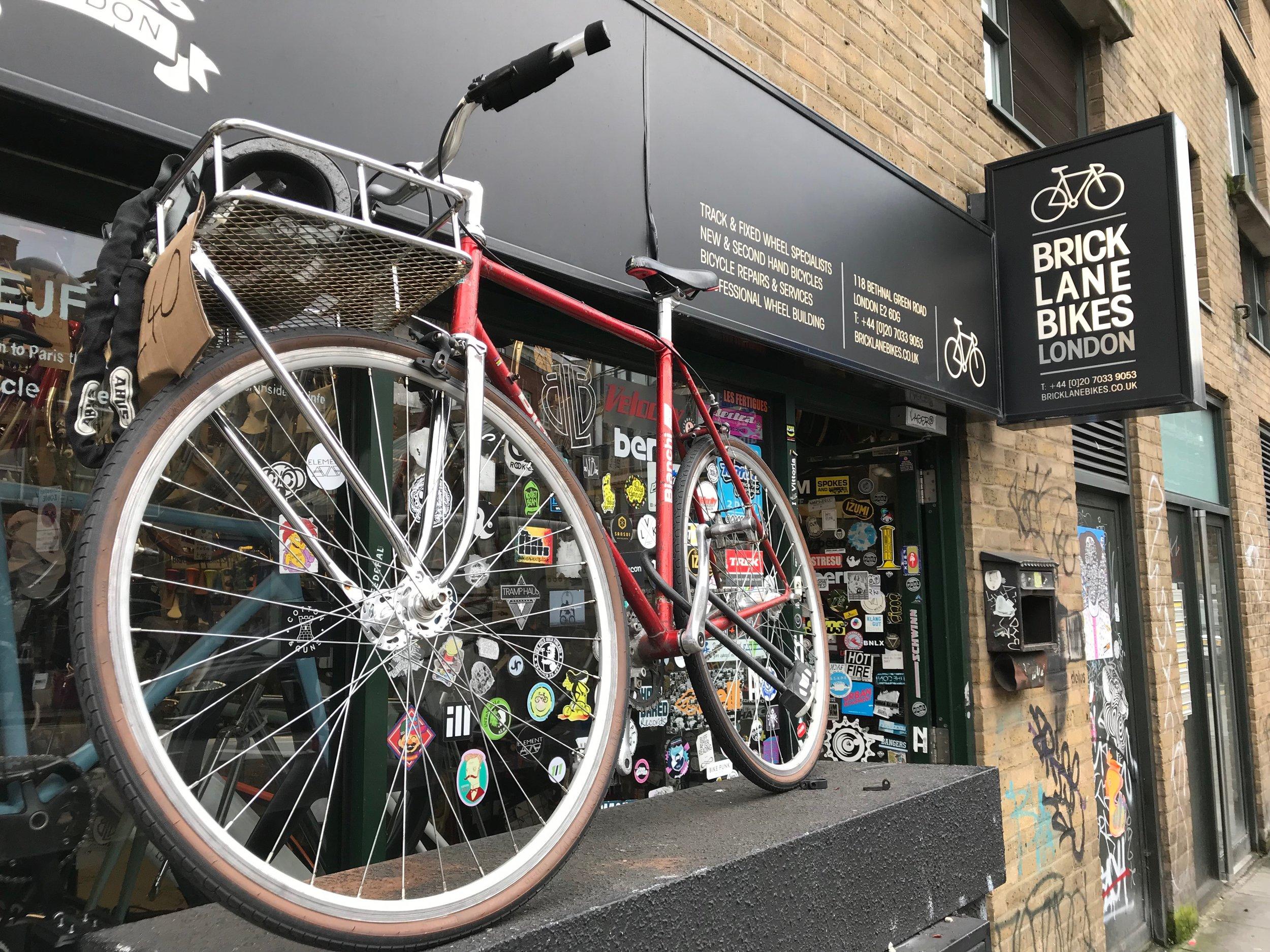 28 Jan. 2018. Brick Lane Bikes, London. Proof of cool?