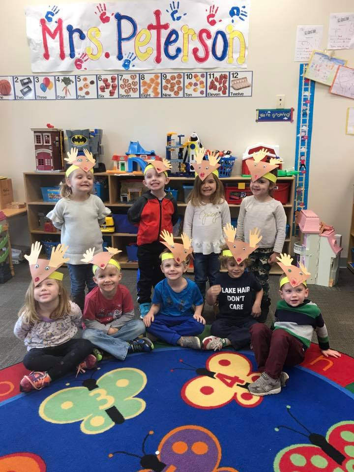 Our Fun Fridays students celebrate the winter season by making reindeer headbands!