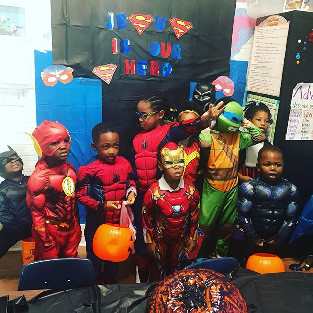The real super hero is Jesus!  #highachieversec #privateschool #halloween #oldtowneconyers #conyersga #cityofconyers