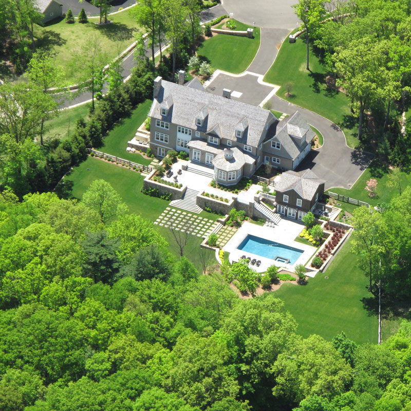 Aerial view New Canaan Grand Estate