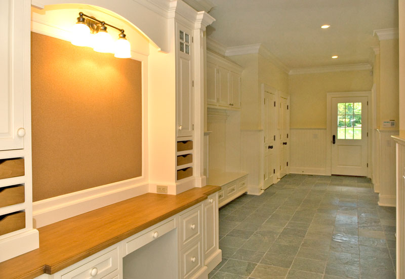 Mudroom and family command center
