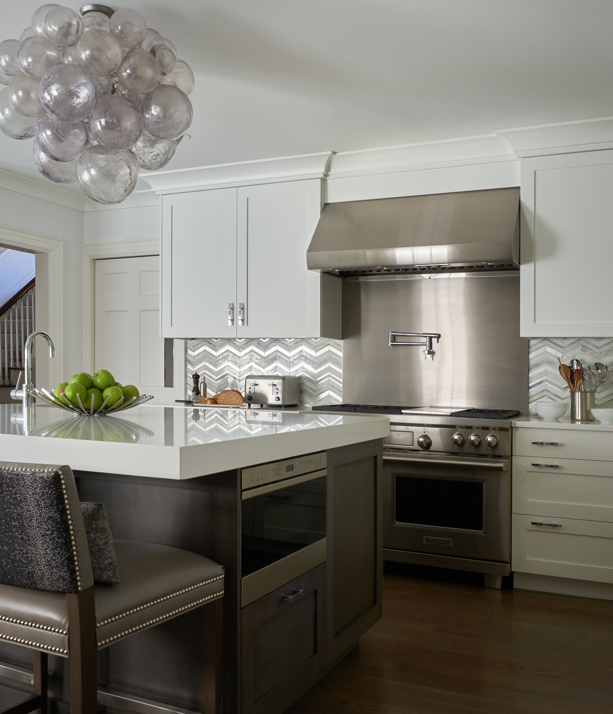 Kitchen, silver and white