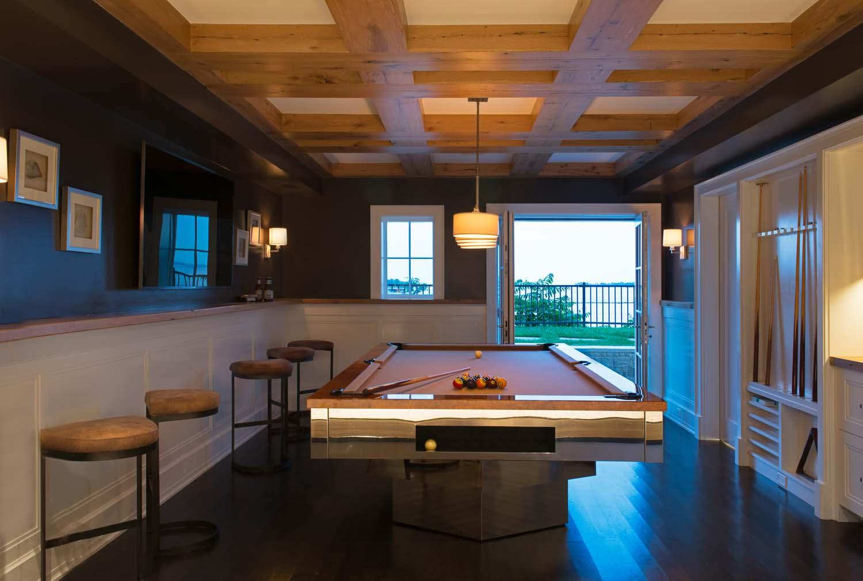 Custom billiards room