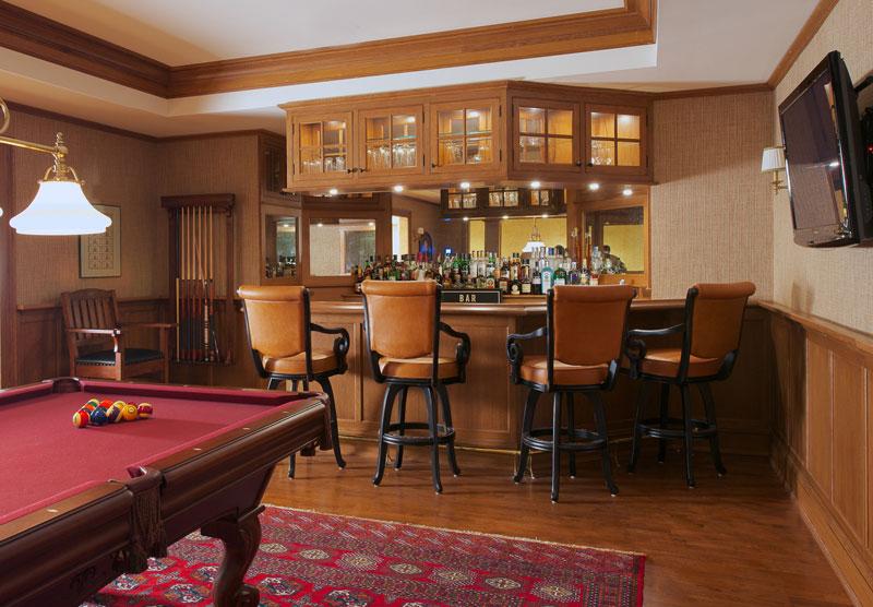 Quarter sawn oak billiard room