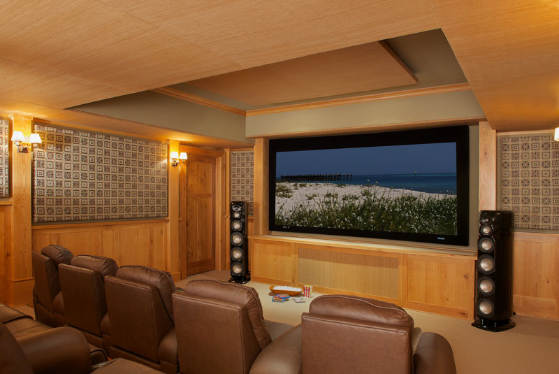 State-of-the-art movie theater with motorized seating
