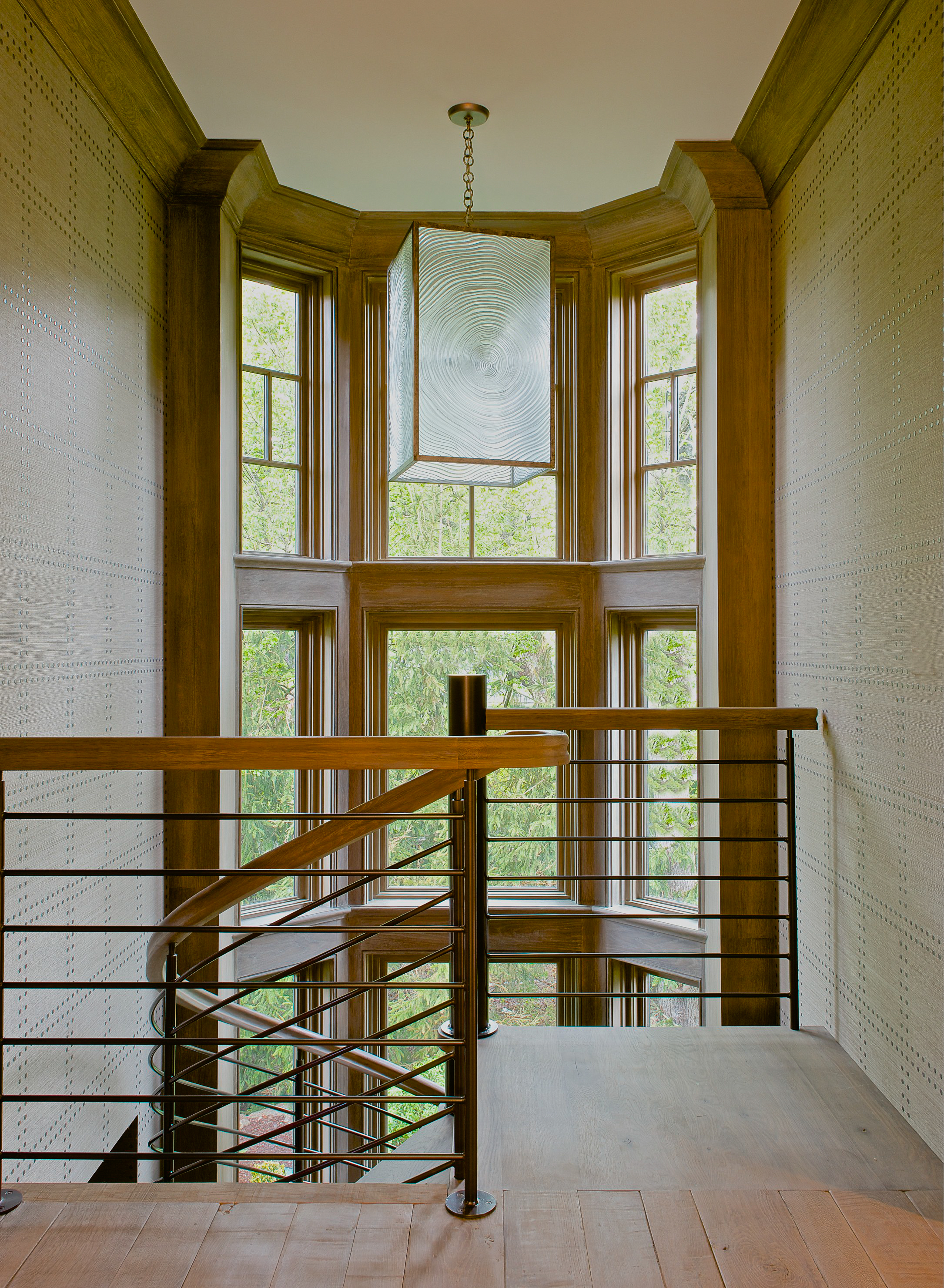 Staircase with custom millwork