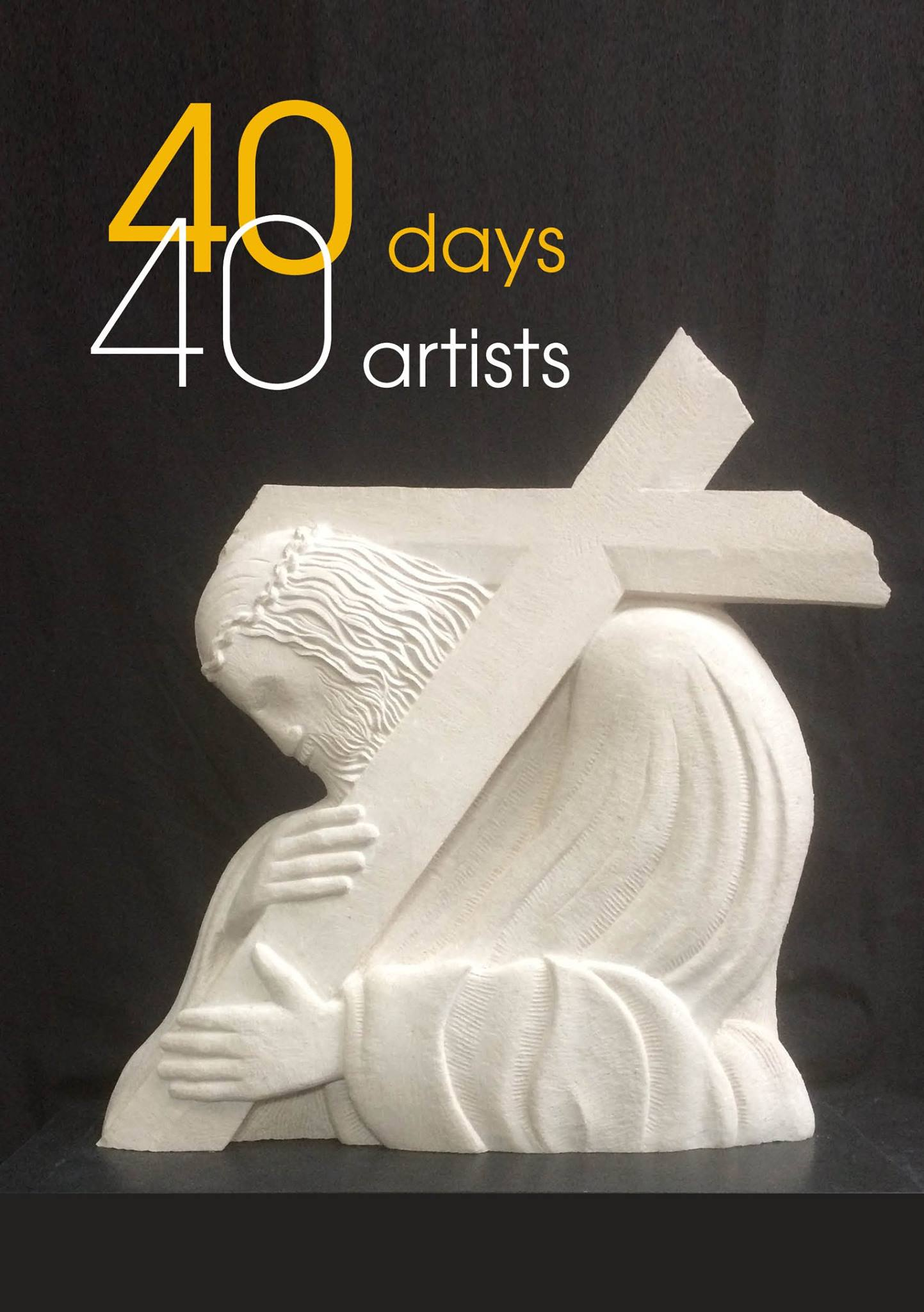 Poster Image for 40 days 40 Artists exhibition