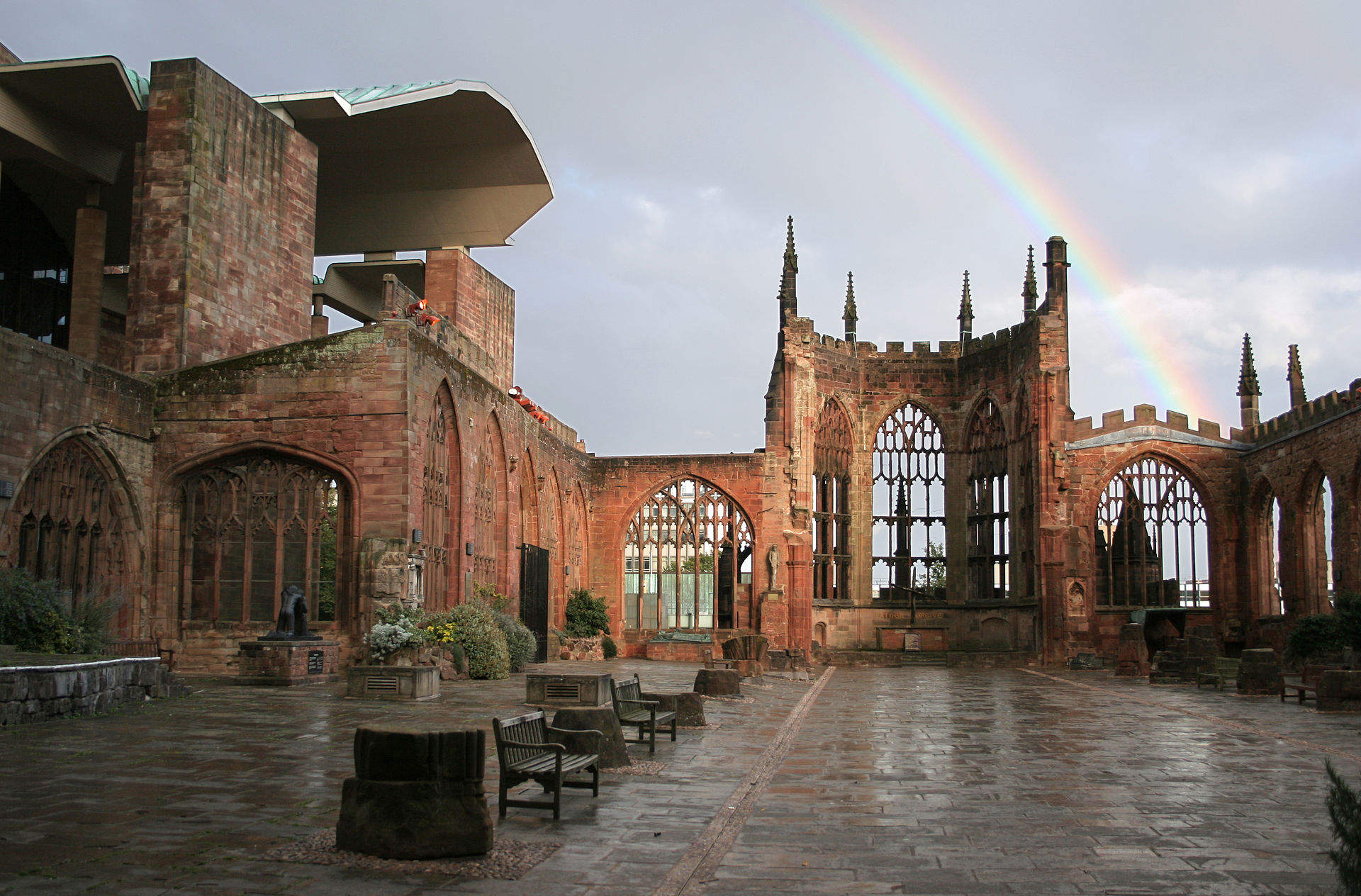 Coventry Cathedral Ruins View