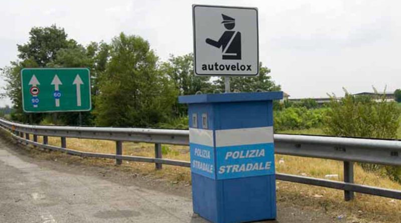 """Example of an """"autovelox"""" speed camera. Image courtesy of www.belvederenews.net"""