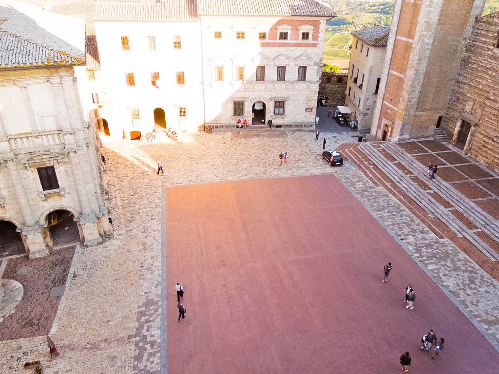 View of the piazza from the tower