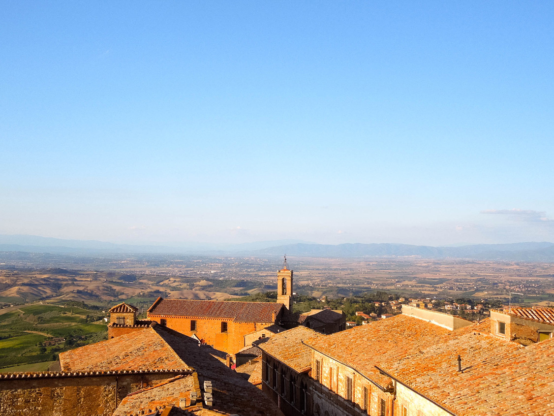 Another look at the breathtaking view from Montepulciano, Italy
