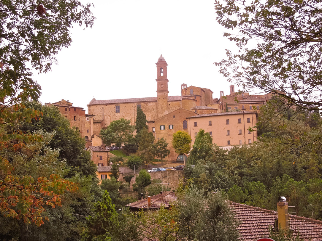 One of the gates into the walled city of Montepulciano, Italy