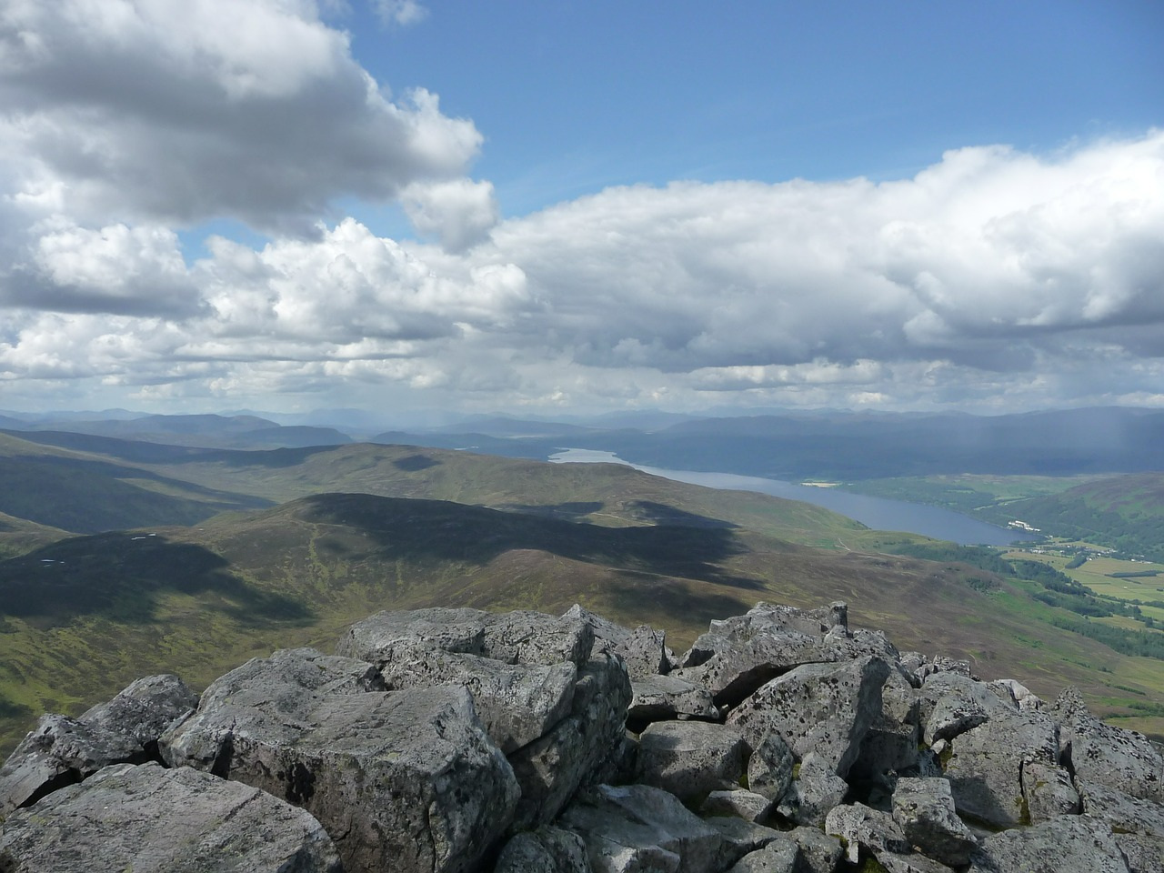 View of Loch Rannoch from the top of the world