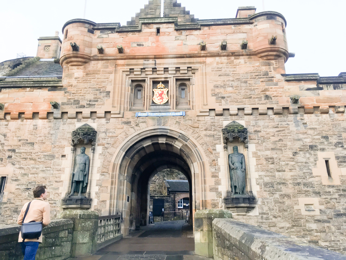 The gatehouse of Edinburgh Castle