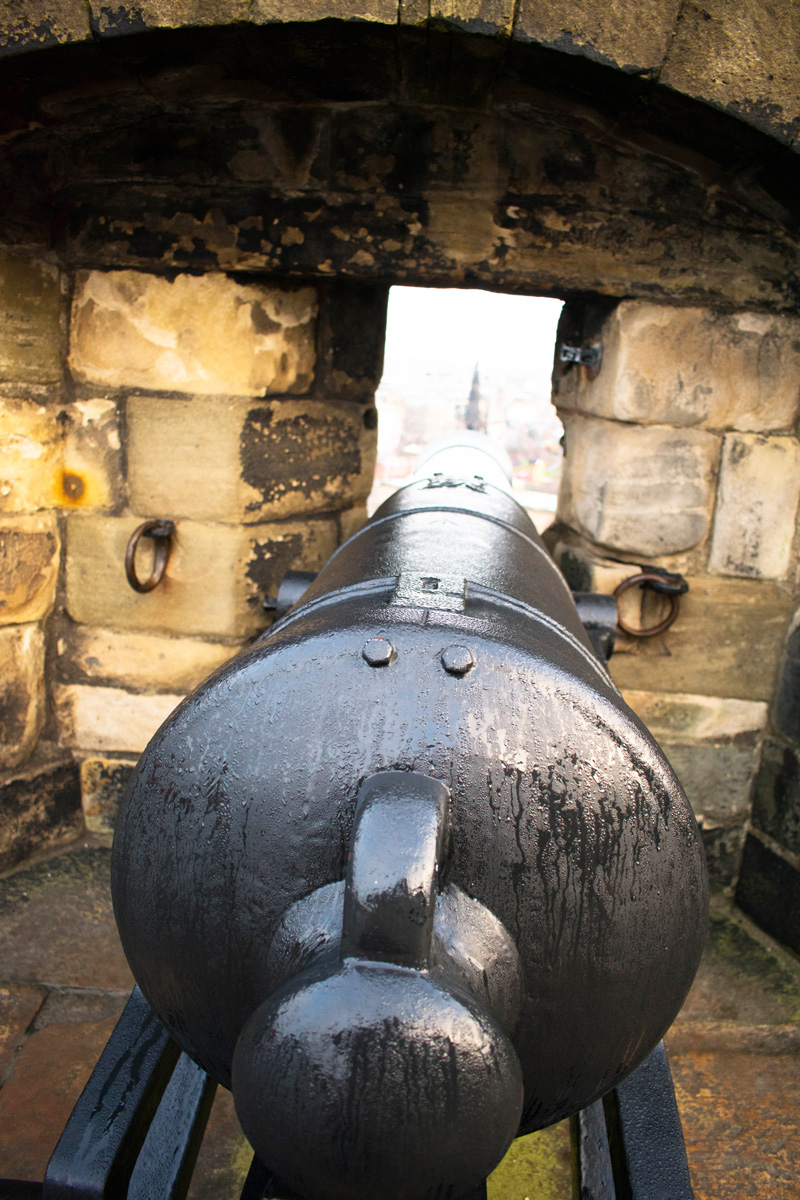 There were many, many canons at the castle. Each with their own unique viewpoint of the city