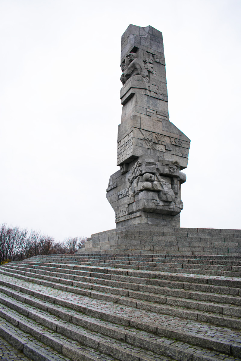 Steps up to the Westerplatte Memorial