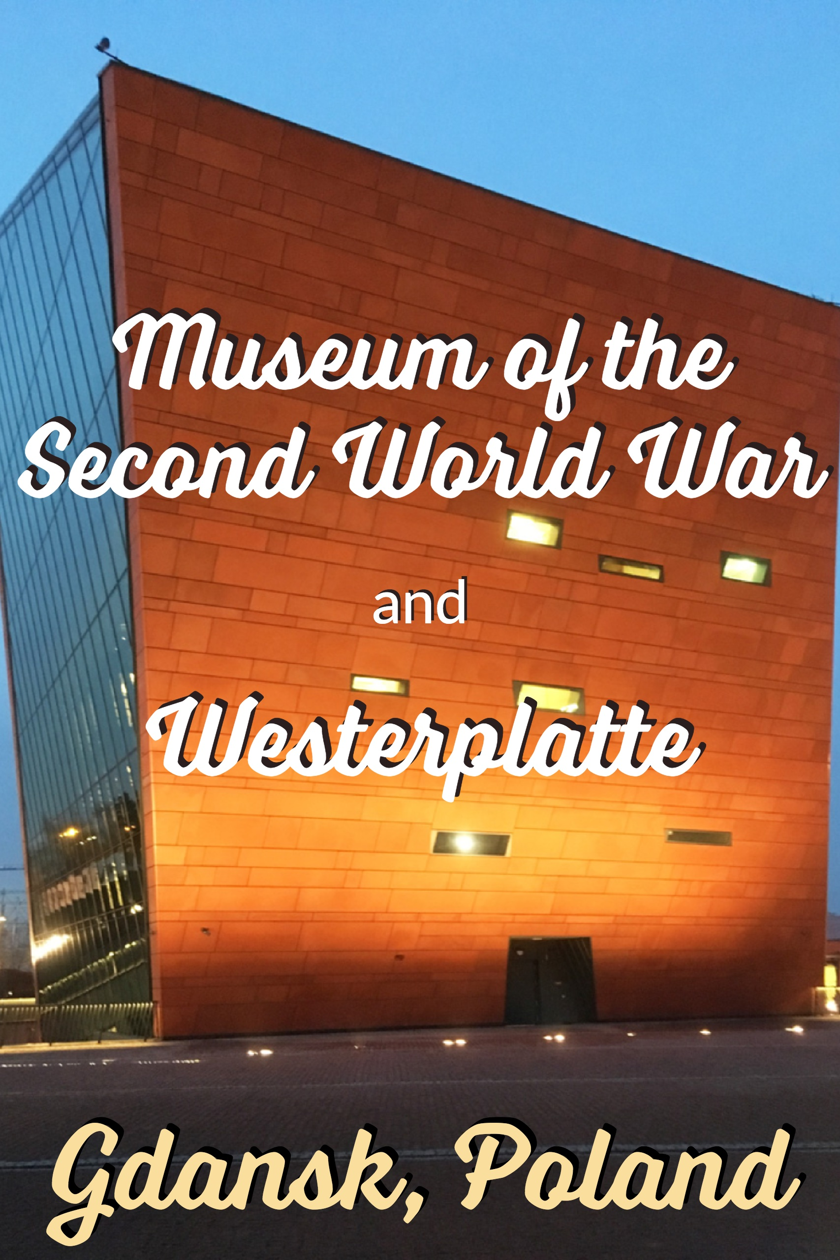 WWII Museum of the Second World War and Westerplatte - Gdansk, Poland #WWII #Europetravel #Poland