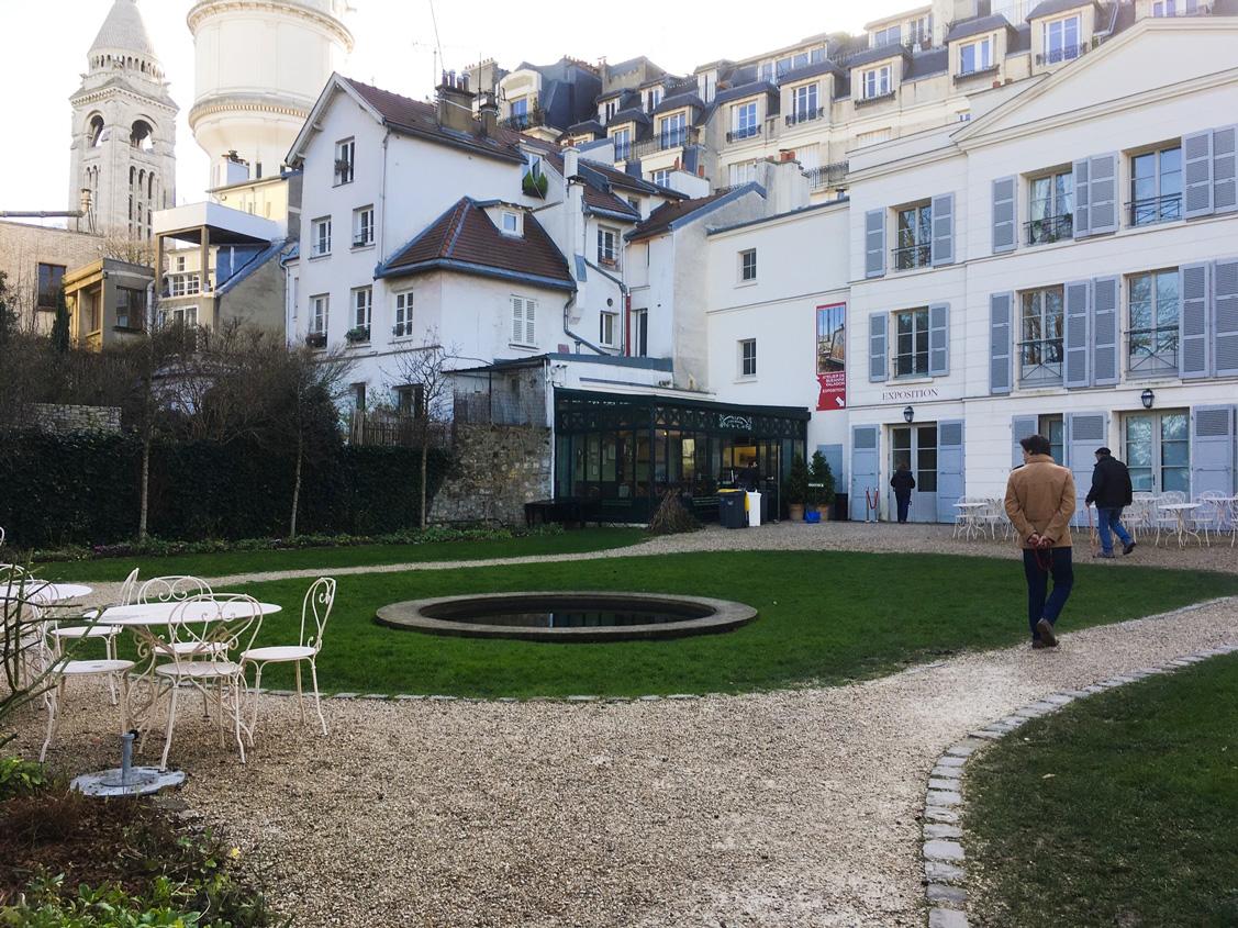 The garden behind Musee de Montmartre