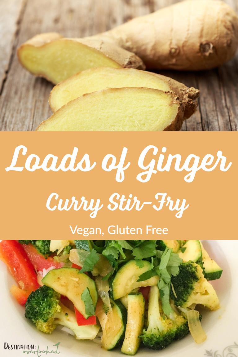 Loads of Ginger Curry Stir-Fry - Vegan, Gluten-Free