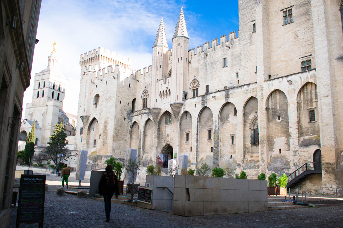 Palais des Papes (Palace of the Popes) in Avignon.