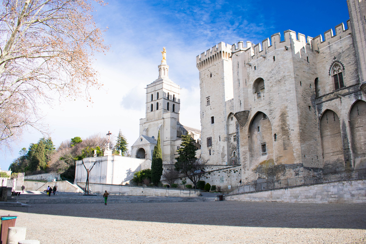 Palais des Papes (Palace of the Popes) and the Avignon Cathedral