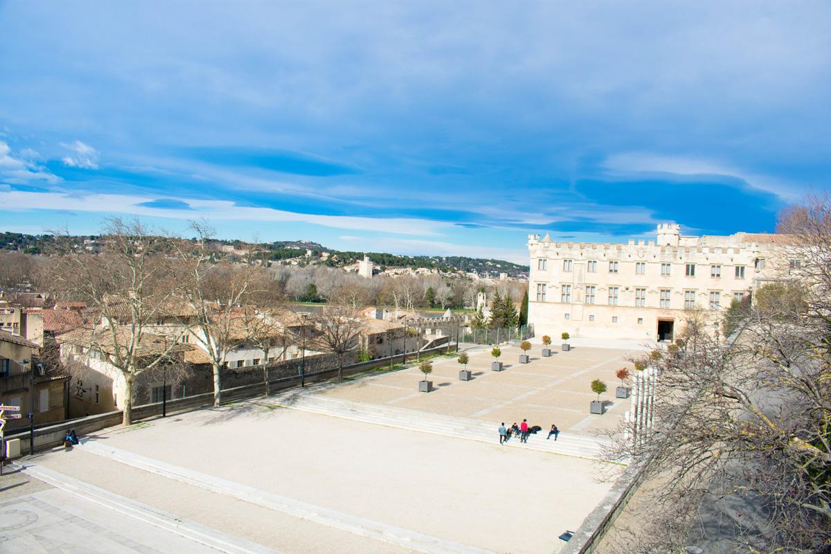 View of Place des Palais and Musee du Petit Palais