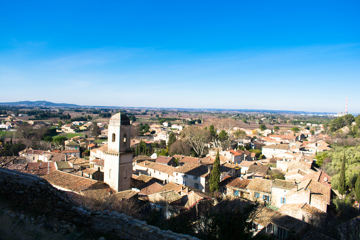 View of Boulbon from above