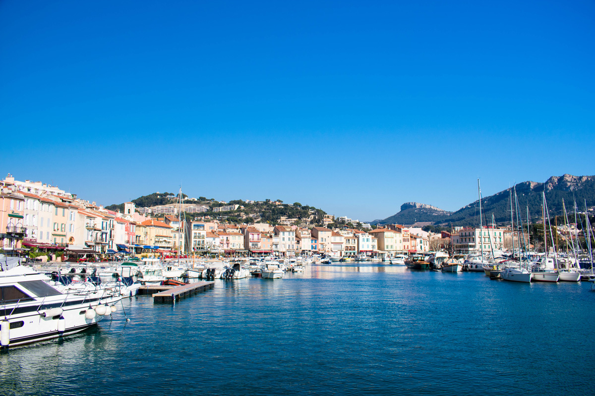 View of Cassis from the harbor
