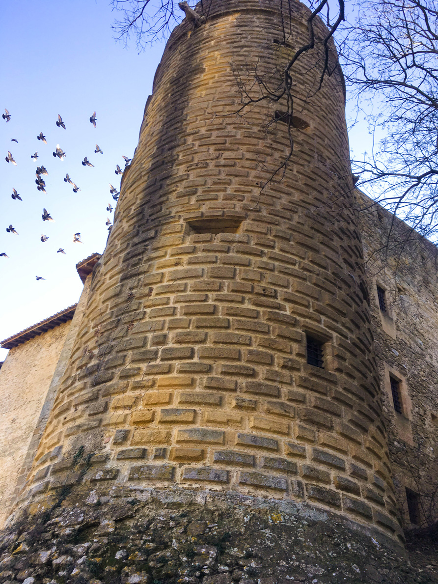 One of the towers of the chateau in Lourmarin