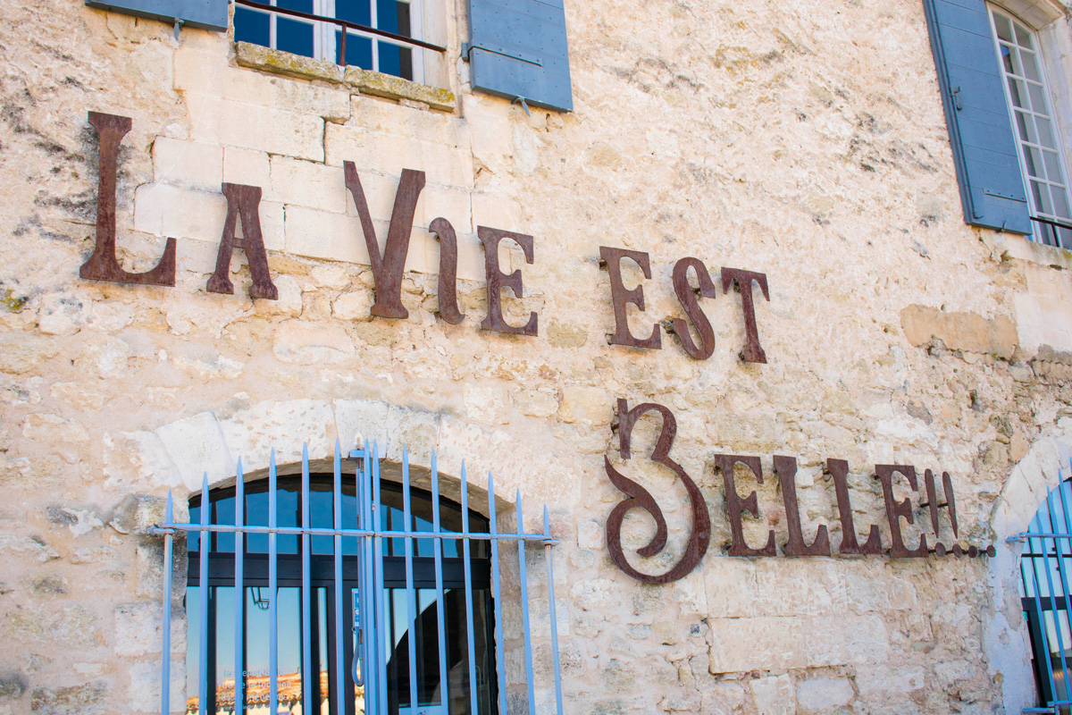 Life in Ménerbes is beautiful, and they don't mind letting people know!