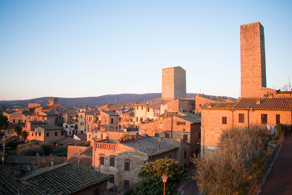 View from our hotel room balcony in San Gimignano