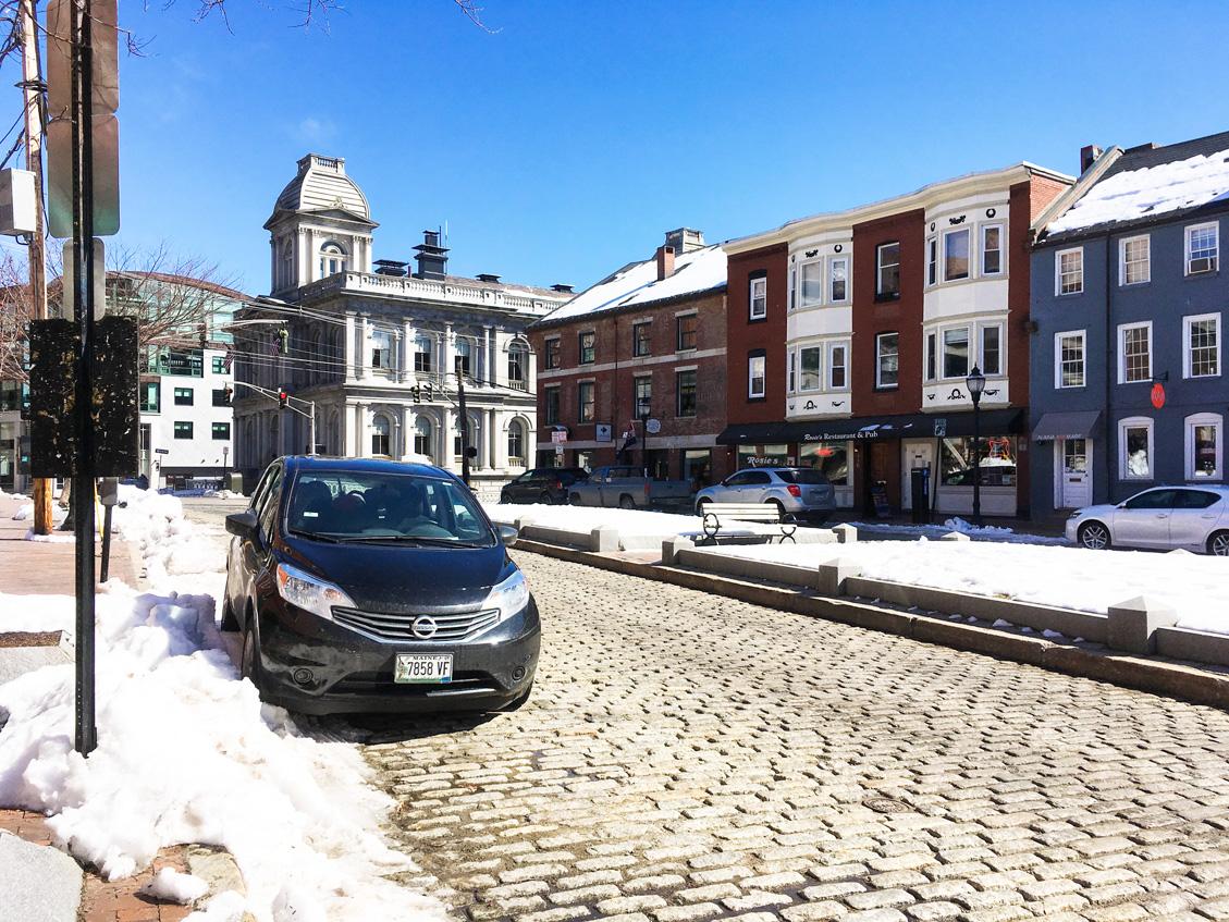 Old Port neighbourhood in Portland, Maine
