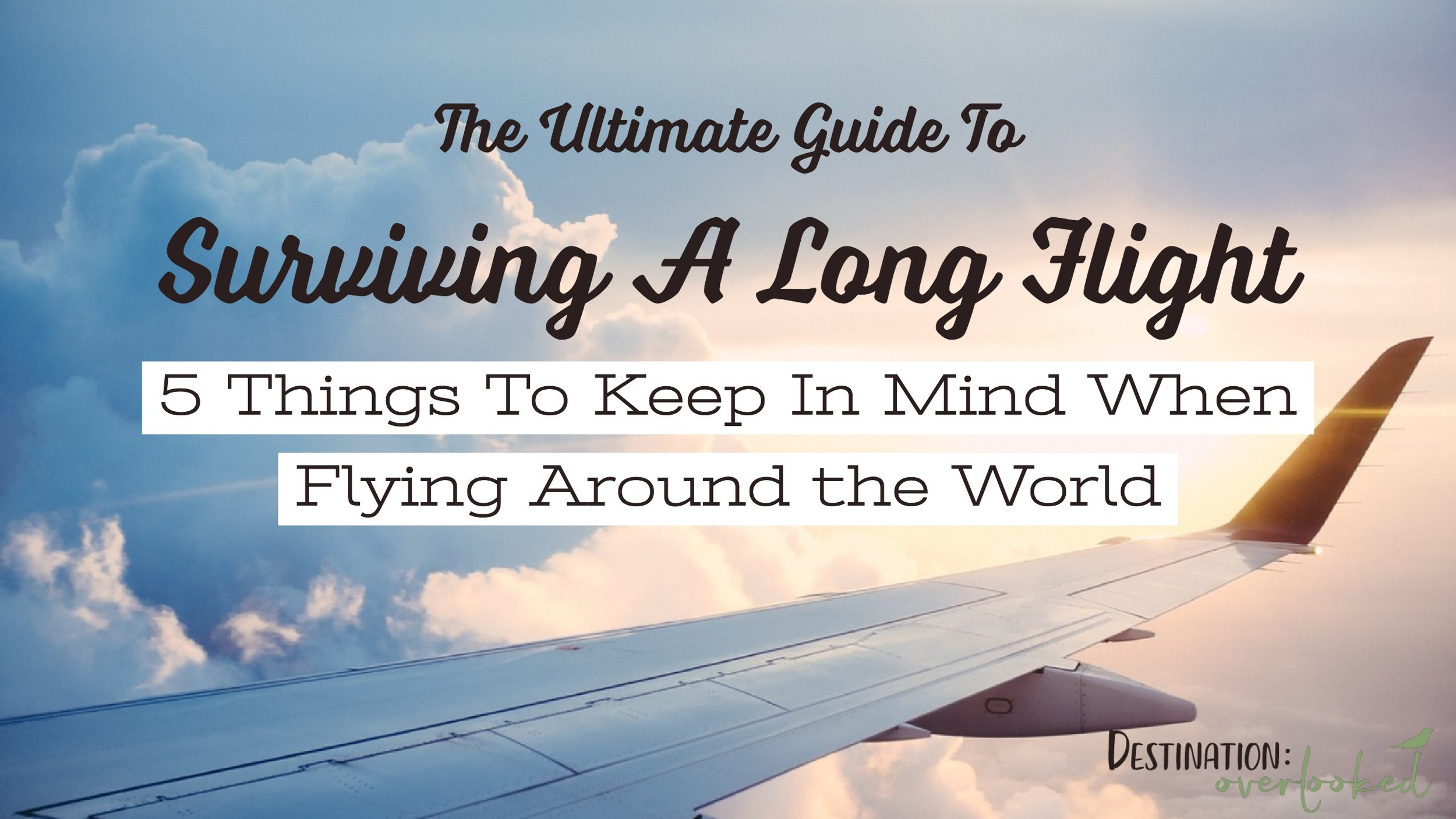 The Ultimate Guide To Surviving A Long Flight: 5 Things To Keep in Mind When You Fly Around The World