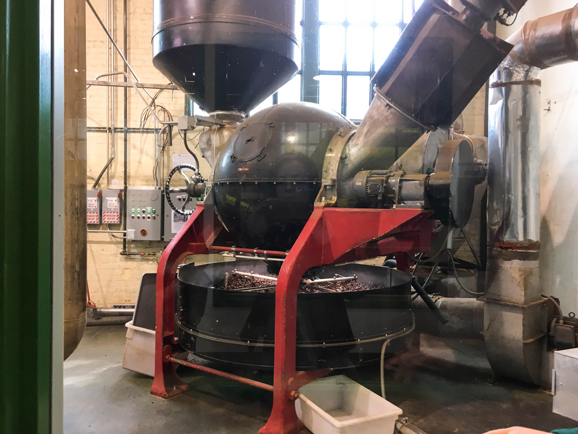 Cacao bean roaster - I could literally watch (and smell!) this thing all day