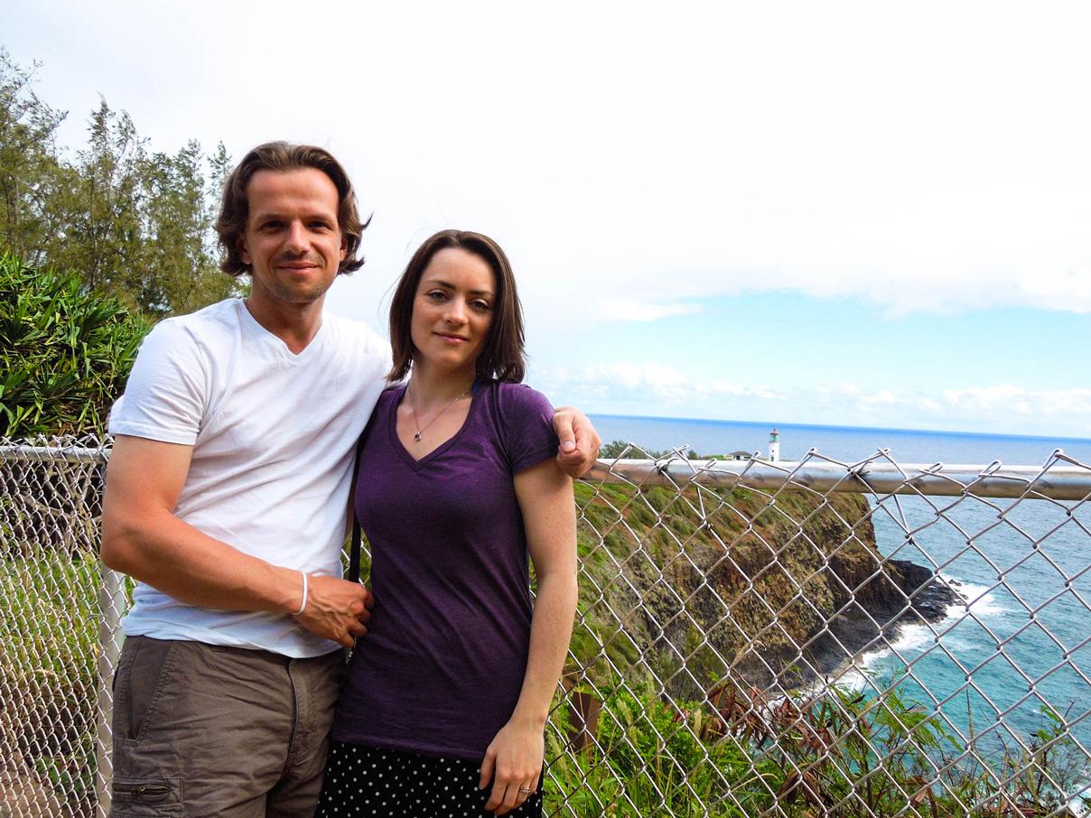 Us in Kauai a few years ago - please ignore our hair...