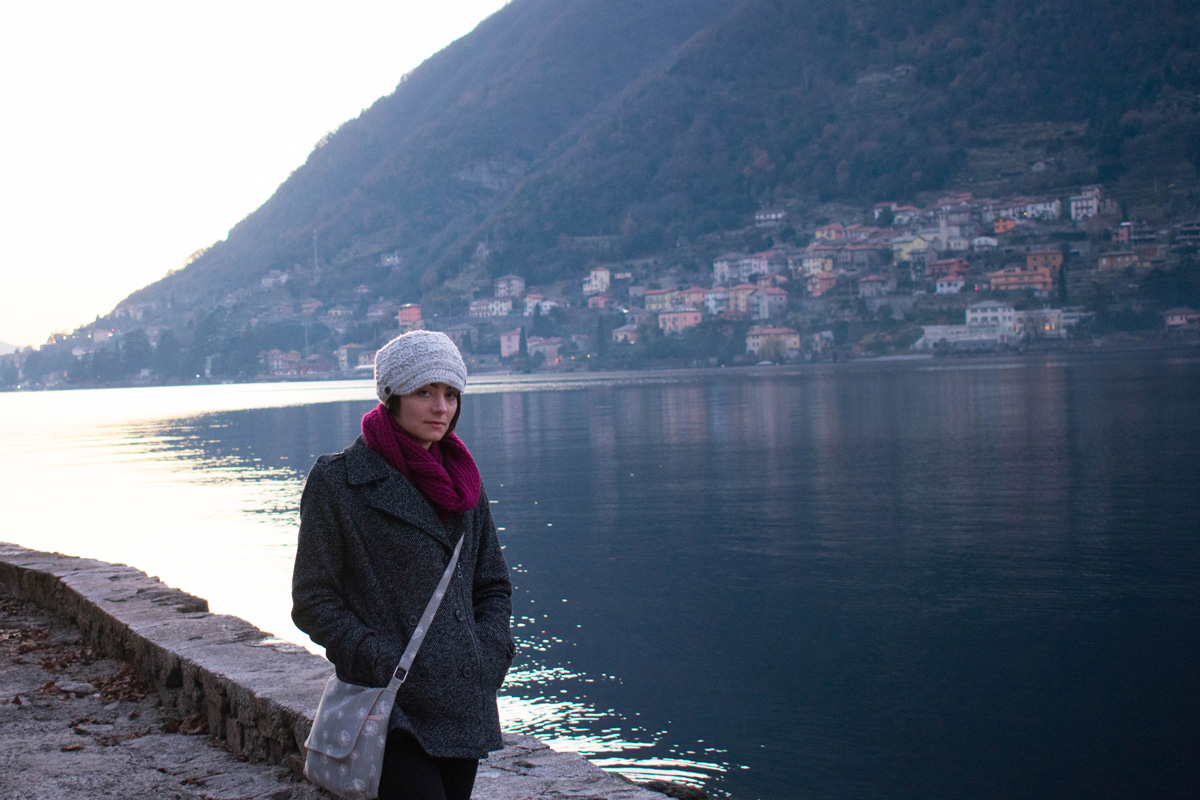 Lake Como in Italy is beautiful in the winter, but it's definitely not swimsuit weather!