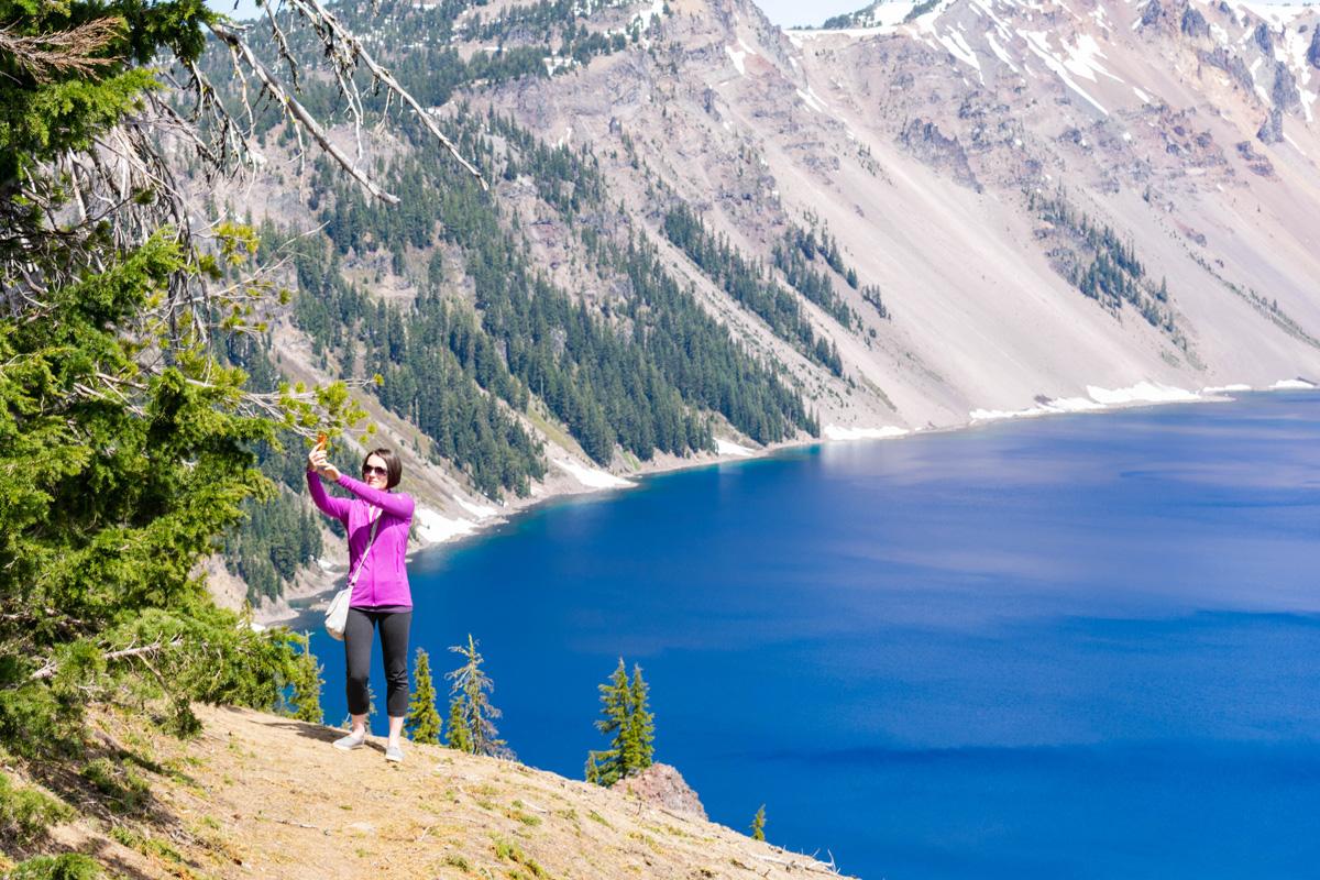 Crater Lake National Park in June