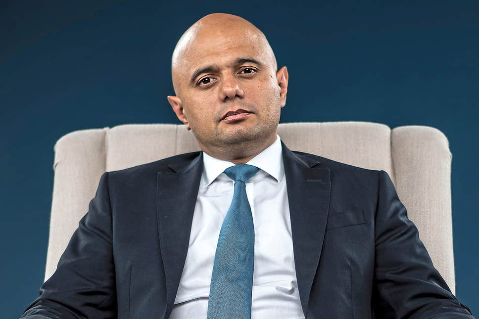 UK Chancellor of the Exchequer Savid Javid