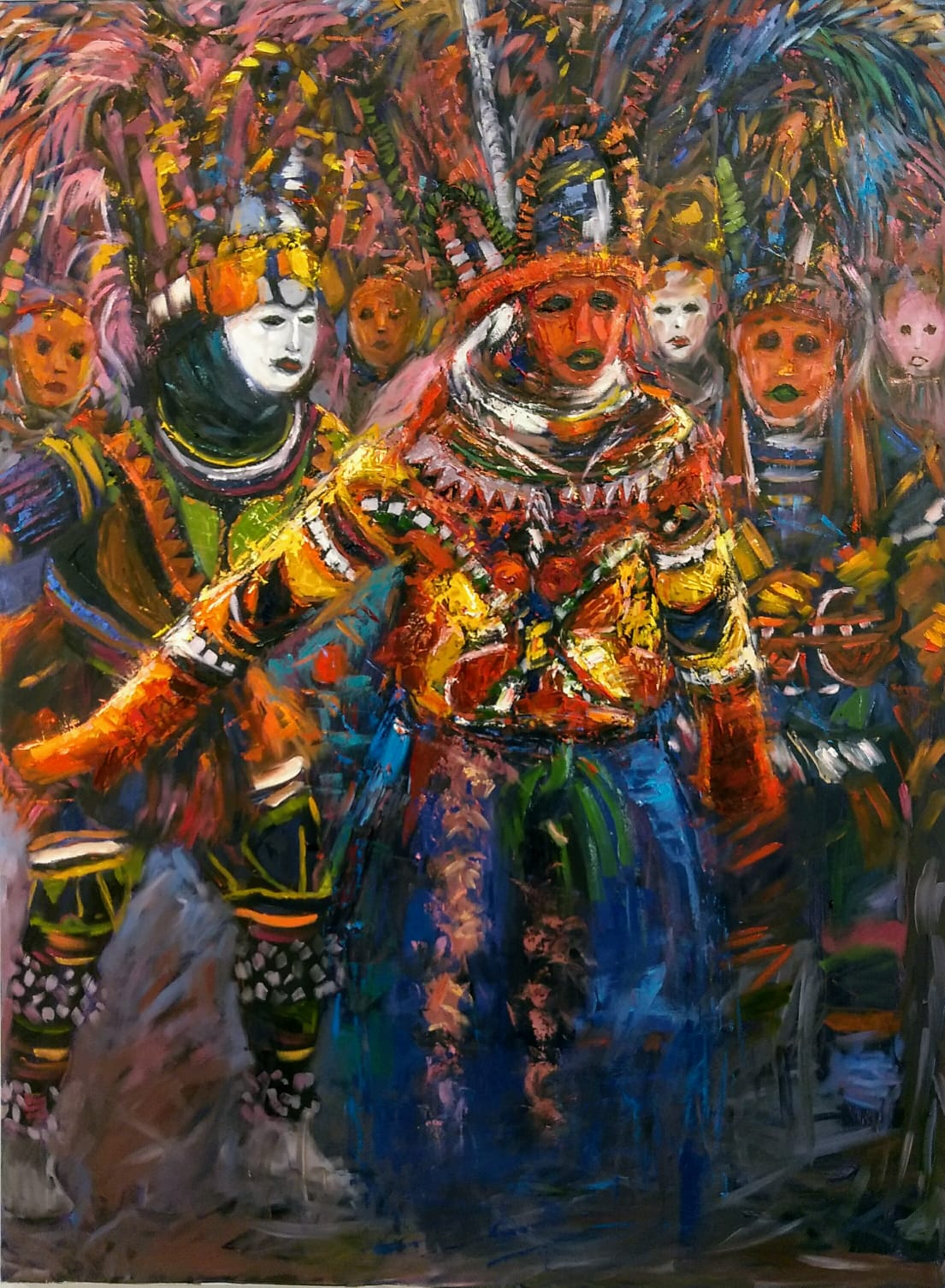 """""""New Yam Festival"""" by Stanley Agbontaen"""