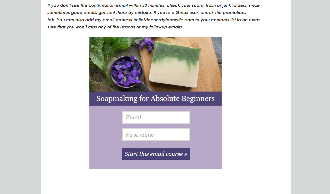 soap email course