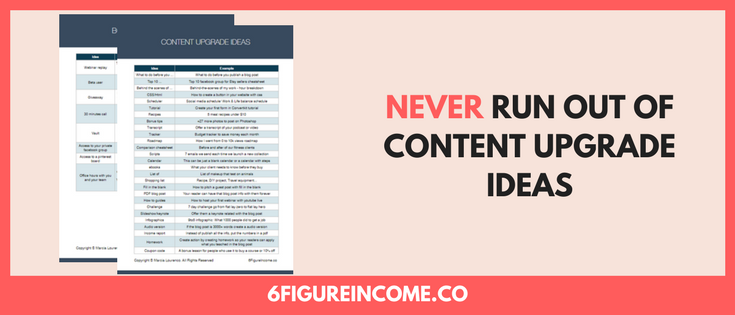 Never run out of content upgrade ideas